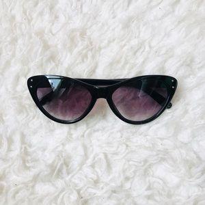A New Day Studded Black Cat Eye Sunglasses